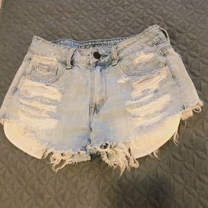 American eagle light washed high wasted